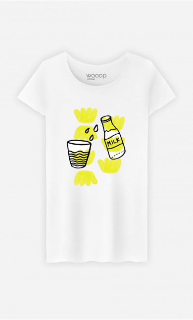 Woman T-Shirt Milk