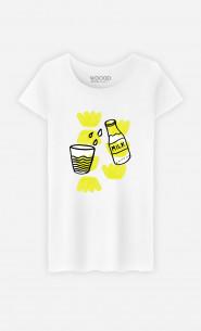 Woman T-Shirt Milk