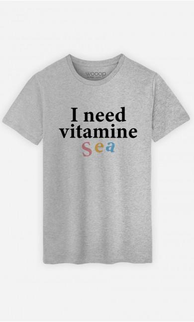 Man T-Shirt I Need Vitamine Sea