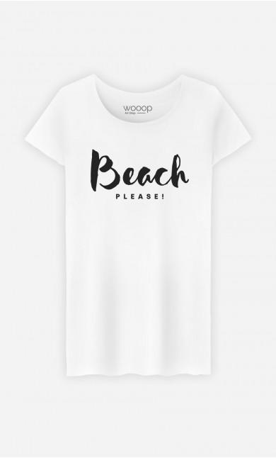 Woman T-Shirt Beach Please
