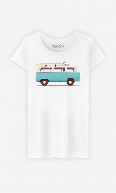Woman T-Shirt Blue Van