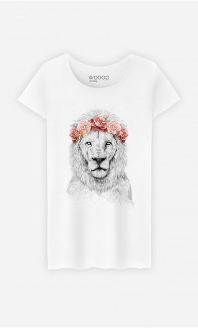 Woman T-Shirt Festival Lion Spring