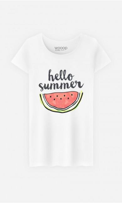Woman T-Shirt Hello Summer