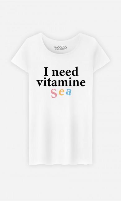 Woman T-Shirt I Need Vitamine Sea