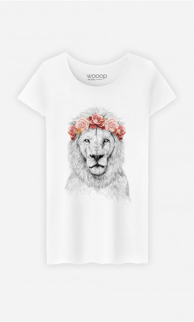 Woman T-Shirt Lion Spring